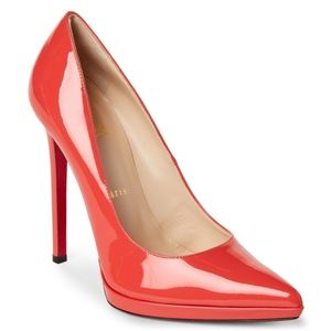 New Christian Louboutin Pigalle Plato Coral 36.5